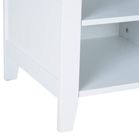 HOMCOM Conjunto de Muebles de Entrada Recibidor Pasillo Set de 3 Piezas Perchero Espejo Banco Zapatero con Estantes 80x40x170cm