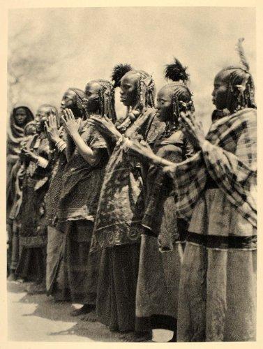 1930 Africa Aulad Hamid Arab Women Costume Dance Sudan - Original Photogravure
