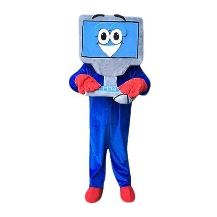 Blue Computer Mascot Costume Langteng Cartoon (TM)  sc 1 st  Amazon.com & Amazon.com : Blue Computer Mascot Costume Langteng Cartoon (TM ...
