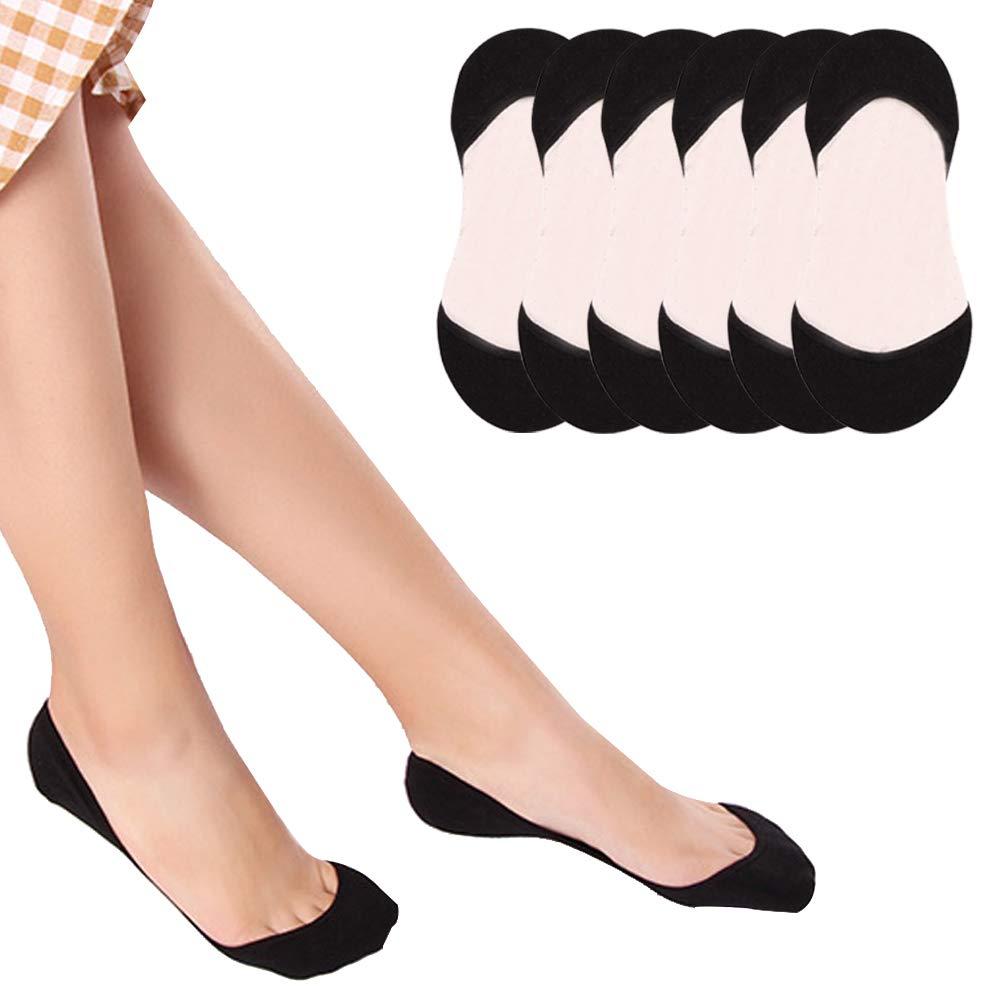 Puimentiua 6/10 Pares Calcetines Invisible Mujer No show No-slip Calcetines Cortos Elástco Con Silicona Antideslizante product image