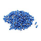 250PCS 22-16AWG #4 Stud Blue Insulated Fork Spade Terminals Connector