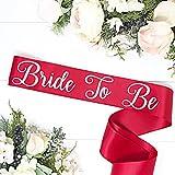 Bachelorette Sash - Red Satin - Silver Bride To Be