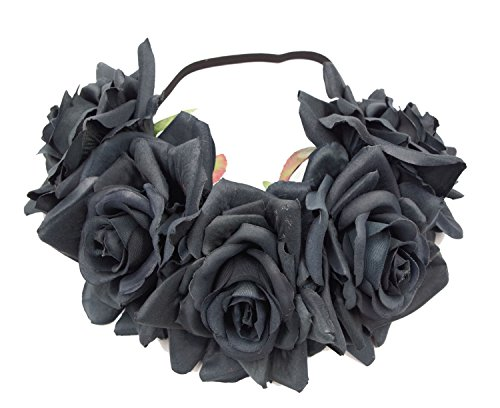 Love Sweety Rose Flower Headband Floral Crown Wreath Garland Halo -