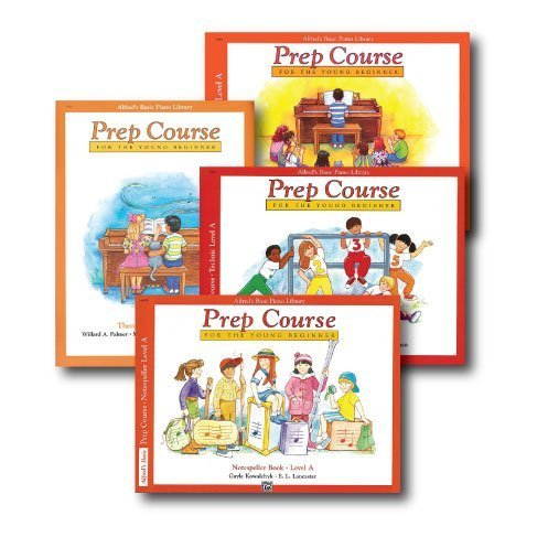 Alfred's Basic Piano Prep Course Level A - Four Book Set - Includes Lesson, Theory, Technic, and Notespeller books (Alfred Instrument)