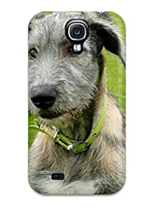 First-class Case Cover For Galaxy S4 Dual Protection Cover Irish Wolfhound Puppies 7502226K41884843