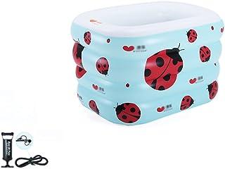 LXJYMX Piscina gonfiabile per bambini riscaldata in PVC per bambini - vasca da bagno portatile (Colore : Electric pump, dimensioni : 120CM)