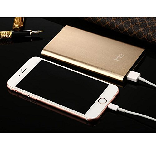 XuBa Mini HD 1080P C/ámara Power Bank Detecci/ón de Movimiento Grabadora 5000 mAh Cargador de Dispositivo Black H8 WiFi
