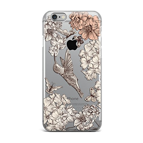 Vintage Hummingbird Clear TPU Phone Case for iPhone 6/6s (iPhone 6 Plus / 6s Plus) (Hummingbird Iphone 6 Plus Case)