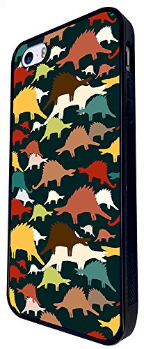 714 - Cool Fun Multi Dinosaurs Design iphone SE - 2016 Coque Fashion Trend Case Coque Protection Cover plastique et métal - Noir