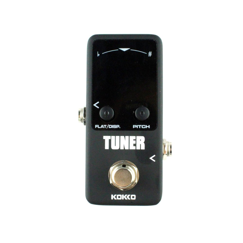 Guitar Mini Effects Pedal Tuner - Chromatic Tuner Pedal High Definition Color Screen with Super Fast Stable and Accurate Tuning for Guitar and Bass - FTN2 Flanger