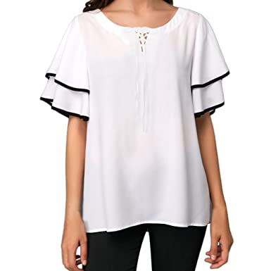 b49a77c5cd8d Amphia Damen T-Shirt Ladies Long Back Shaped,Damen T-Shirt Sommer Freizeit