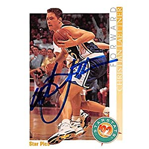 Christian Laettner autographed basketball card (Duke Blue Devils NCAA Final Four Champion) 1992 Star Pics #10 – Autographed College Cards