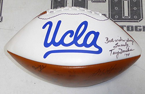 1994 UCLA Bruins Team Signed Football Terry Donahue Donnie Edwards Kevin Jordan - Autographed College Footballs