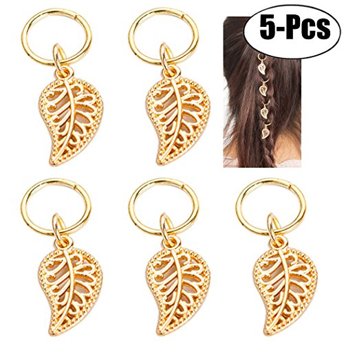 Zoylink Hair Pendant Hair Jewelry Ring Cross Loop Shell Leaf Coin Hand Star Shaped Hair Decorations