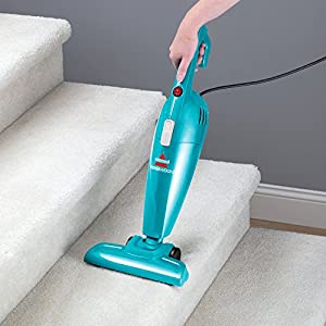 Bissell Featherweight Stick Bagless Vacuum - in use handheld stairs