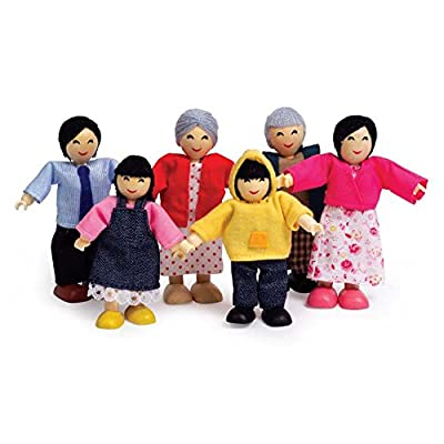 Hape Happy Doll Family - Asian, (Set of 6): Industrial & Scientific