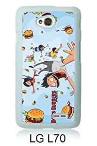 Bob's Burgers 1 White Abstract Custom Design LG L70 Protective Phone Case