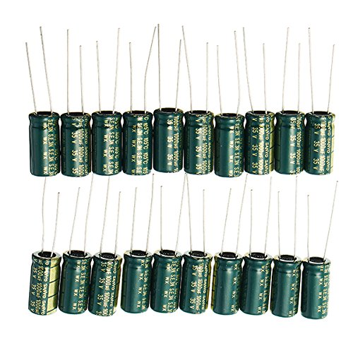 20pcs 35V 1000UF High Frequency Long Life Capacitor LCD Motherboard Electrolytic Capacitor