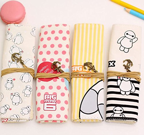 4pcs/lot Baymax pencil bag school pencil case for boys and girls Kawaii stationery office supplies ac0158