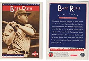 Babe Ruth Upper Deck Exclusive Edition Baseball Card New York Yankees
