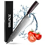 Professional 8-inch Chef Knife with Gift Box High Carbon Stainless Steel Kitchen knife with Damascus Pattern, Ultra Sharp, Ergonomic Handle, Anti Corrosion for Slicing, Chopping or Dicing