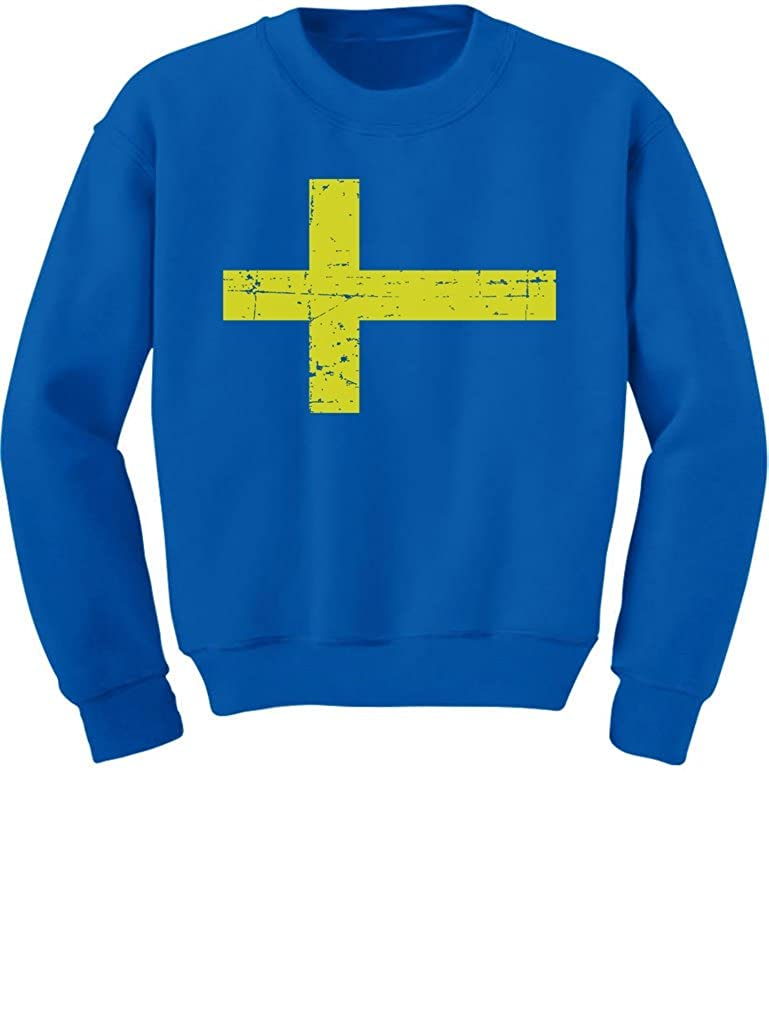 TeeStars Vintage Sweden Flag Retro Style Swedish Youth Kids Sweatshirt