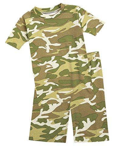 CWDKids Children's Cotton Short Pajamas - Camo, Size 8