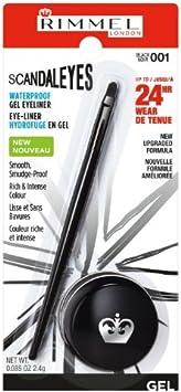 (6 Pack) RIMMEL LONDON ScandalEyes Waterproof Gel Eyeliner - Black: Amazon.es: Belleza