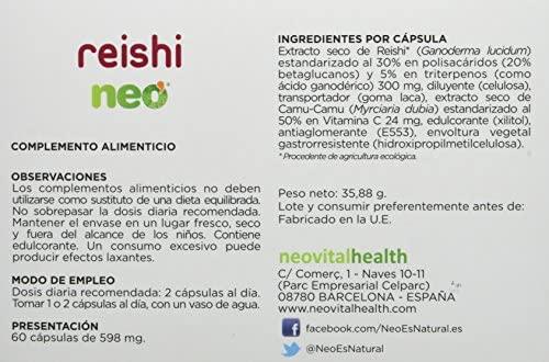 Reishi Neo, Complemento Alimenticio, 60 Cápsulas
