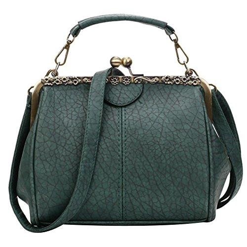 Lock Pu Women Replacement Kiss Handbag Clutch Donalworld Strap Solid Framed F UEfwd8q