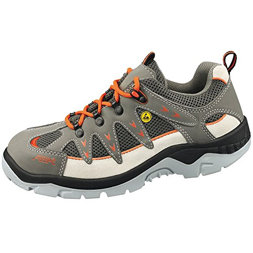 Anatom Abeba 32292-43 zapatillas de seguridad baja ESD, talla 43, color Gris y naranja