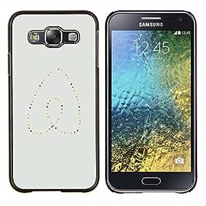EJOOY---Cubierta de la caja de protección para la piel dura ** Samsung Galaxy E5 E500 ** --Perlas del corazón del oro azul minimalista
