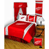 NHL Detroit Red Wings Hockey 5pc Queen Bedding Set