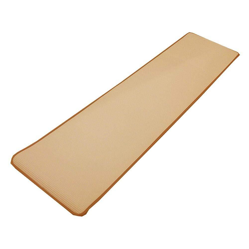 ふんわりやわらかな疲労軽減マットです。 大島屋 ふわりーなシリーズ キッチンマット リバーシブル BE(ベージュ) 約45×180cm 〈簡易梱包   B07RVHN4LK