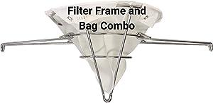 The FryOilSaver Co. GCONE10 & Frame | Oil Filter Bag and Frame Kit | Reusable Deep Fryer Filter Bag | Durable Stainless Steel Construction | Easy to Clean | Design for Easier Oil Filtering