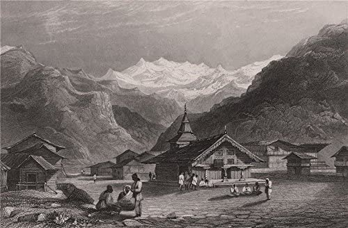 Kasauli a village near Shimla 1858 old antique print picture BRITISH INDIA