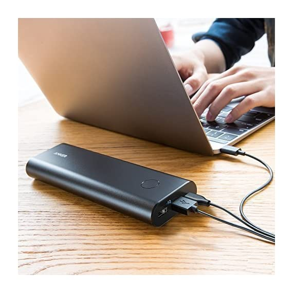 Anker PowerCore+ 20100 USB-C, Ultra-High Capacity Premium Portable Charger, 20100mAh External Battery, 6A Output Type-C… 8 The Anker Advantage: Join the 30 million+ powered by our leading technology. MacBook Compatibility: In addition to standard functionality, USB-C Compatible: Fully compatible with the new MacBook (not MacBook Pro), charging at 5V/3A. USB-C port acts as input and output. Ultra-High Capacity: Recommended by Time Magazine, the PowerCore+'s 20100mAh capacity can fully charge 1 MacBook, 1 iPhone and 1 iPad Air 2 on a single charge.
