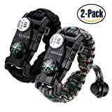 WHY CHOOSE THIS PARACORD BRACELET?  - This is a 20 in 1 Multi-function Bracelet  - This Paracord Bracelet Can Take Load Up to 550 LB  - This Paracord Bracelet Comes with a WATERPROOF SOS LED LIGHT.  - This Paracord Bracelet is ADJUSTABLE,about 4.3 in...