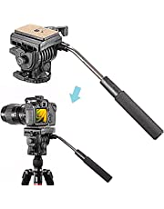 Neewer Heavy Duty Camera Tripod Ball Head with Handle and 1/4 inch Quick Shoe Plate, 360 Degree Panoramic Head for Tripod, Monopod, Slider, DSLR Camera, Camcorder, Load up to 17.6 pounds/8 kilograms