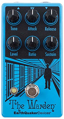 EarthQuaker Devices The Warden V2 Optical Compressor Guitar Effects Pedal