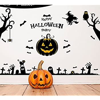 happy halloween pumpkins wall decals window stickers halloween decorations for kids rooms nursery halloween party
