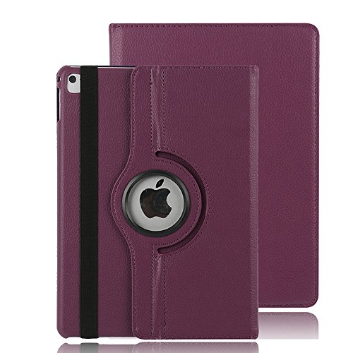 Price comparison product image iPad Pro 9.7 2016 Case Cover, Dream Wings 360 Degrees Rotating Multi-Angle Viewing Stand Screen Protective Smart Case for Apple iPad Pro 9.7 inch 2016 Released Tablet (iPad Pro 9.7,  Purple)