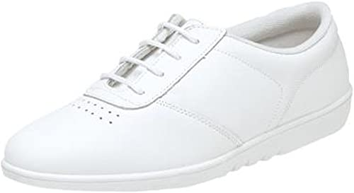 Womens Ladies Leather Lace Up Casual