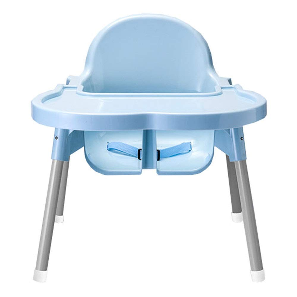 Liuxina Kids' Desk & Chair Sets Multi-Function Foldable Stool Adjustable Booster Seat Portable Baby High Chair (Color : Blue, Size : 464739cm) by Liuxina
