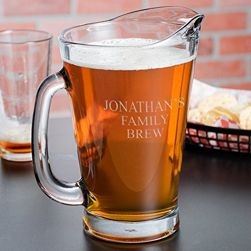 Family Brew Personalized Glass Beer Pitcher ()