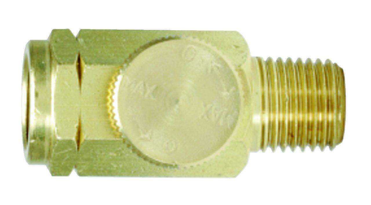 KS Tools 515.3365 Regulador de Aire comprimido, lató n (11 x 13 mm, 1/4'), 10.2 cm latón (11 x 13 mm 1/4)