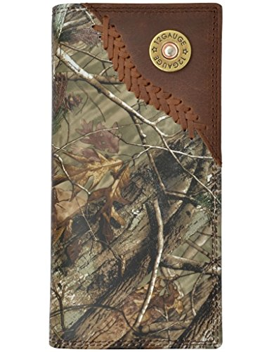 3D Men's Badger Camo Leather Outdoor Rodeo Wallet Camouflage One Size ()