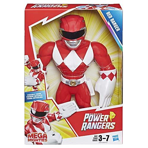 Playskool Heroes Mega Mighties Power Rangers Red Ranger 10-inch Figure (Mighty Morphin Power Rangers White Ranger Toys)