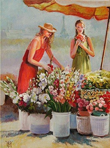 Fresh Cut Flowers - Sidewalk flower vendor in Paris By Yary Dluhos.