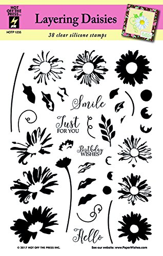"""(Layering Daisies Clear Silicone Stamp Set by Hot Off The Press 